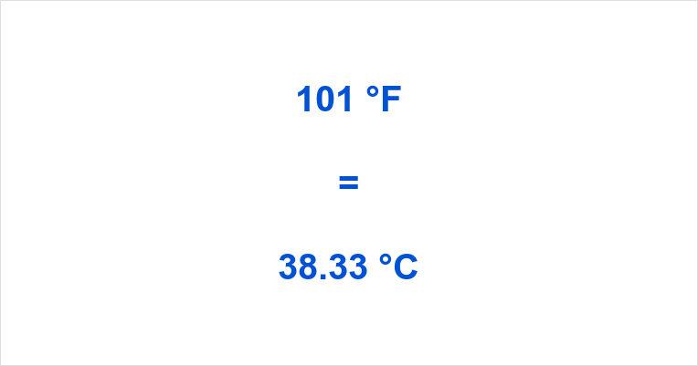 Summary. How much is 101 degrees Fahrenheit ...