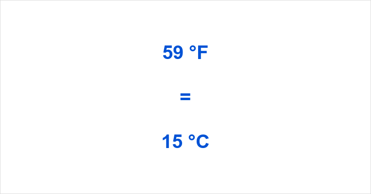 Summary How Much Is 59 Degrees Fahrenheit