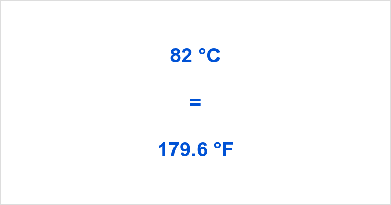 Summary How Much Is 82 Degrees Celsius